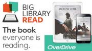 Big Library Read logo and photo of American Sniper cover on tablet and phone.