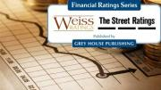 Weiss Ratings Logo over financial graph