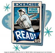 Graphic of a newspaper featuring a baseball player.