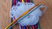 ball of yarn and crochet needles