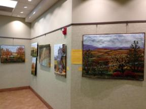 Art Wall at the Wheatfield Library