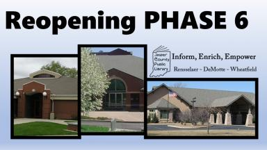 A picture containing the fronts of our three libraries and Phase 6