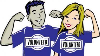 volunteers wearing shirts