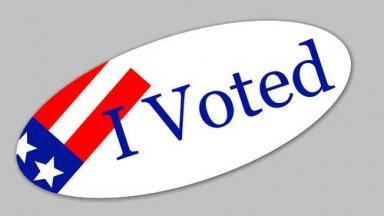 I voted sticker graphic