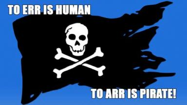 Graphic of a pirate flag as a meme