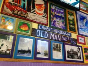 Photo of artistic interpretation of Ernest Hemingway's writings.
