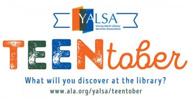 YALSA and Teentober logo: What will you discover at the library?