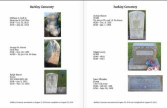Two pages from the book about Barkley Cemetery