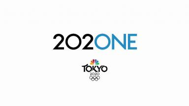 NBC's Olympics logo, a visual pun using the last zero in 2020 as the O in One