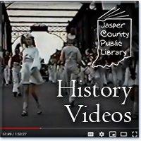 Screen grab of a marching band on the old Washington Street bridge in Rensselaer