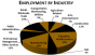 Pie chart of Jasper County employment statistics from guide